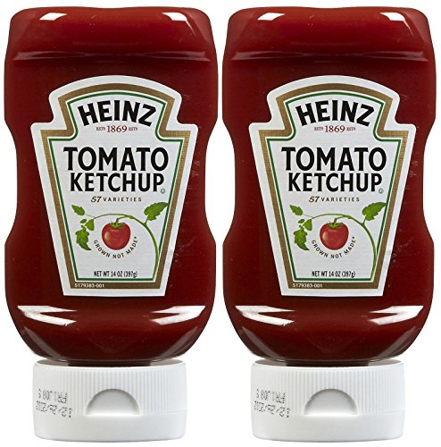 Heinz, Tomato Ketchup, 14oz Squeeze Bottle (Pack of 2) -