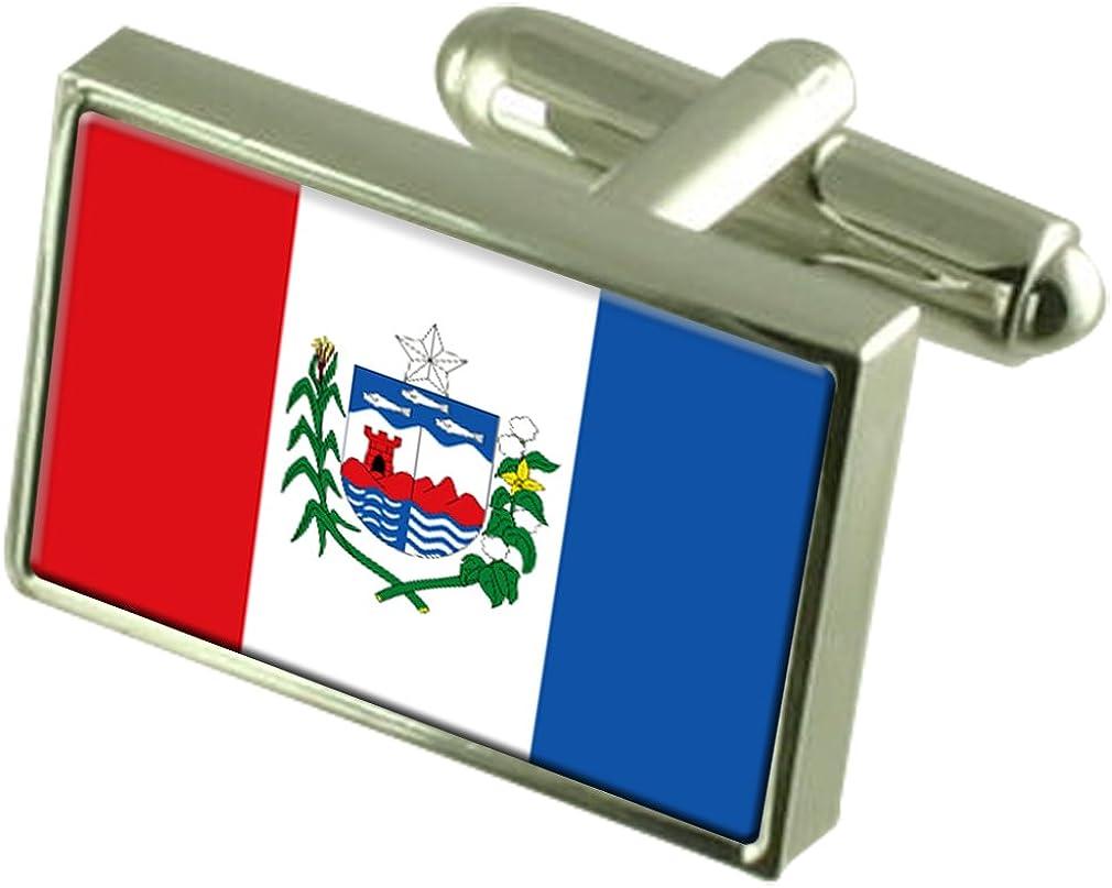 Select Gifts Alagoas Flag Cufflinks Personalised Engraved Keepsake Box