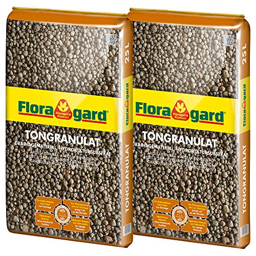 Floragad 2 x Blähton Tongranulat zur Drainage 25 L, 114836