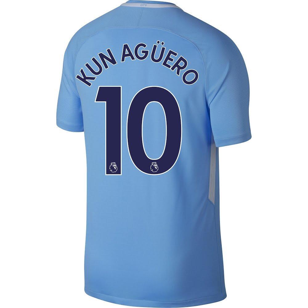 Manchester City Home Kun Agüero Jersey 2017 / 2018 (Authentic EPL印刷)  XX-Large