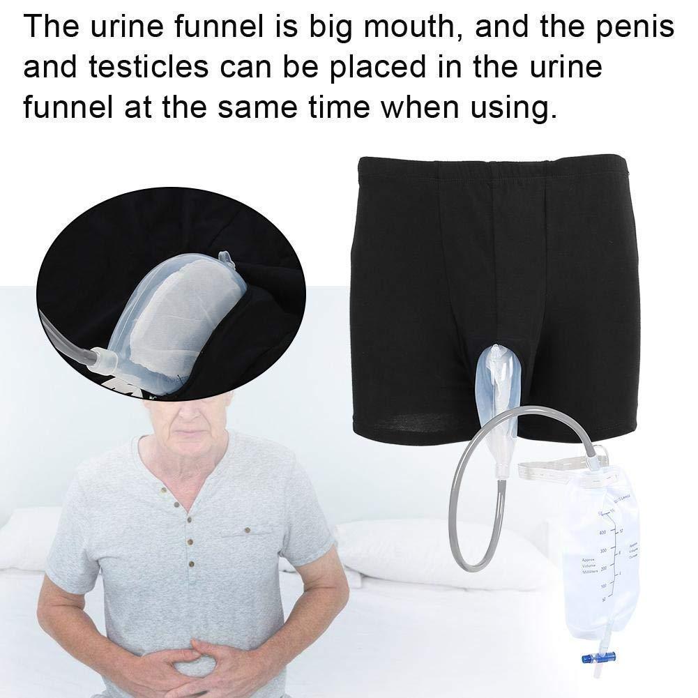 Sac /à Urine M/âle R/éutilisable Urinoir Portable 500ml Collection Urinal Urine Collector Sacoche pour lincontinence Urinaire,L