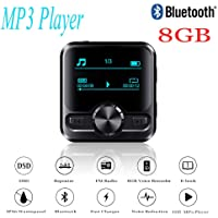 KiGoing Media Bluetooth Mp3 Players, HIFI Waterproof Sports Bluetooth 4.2 MP3 Player Voice Recorder for Women and Men