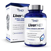 1MD LiverMD - Liver Cleanse Supplement | Siliphos Milk Thistle Extract - Highly...