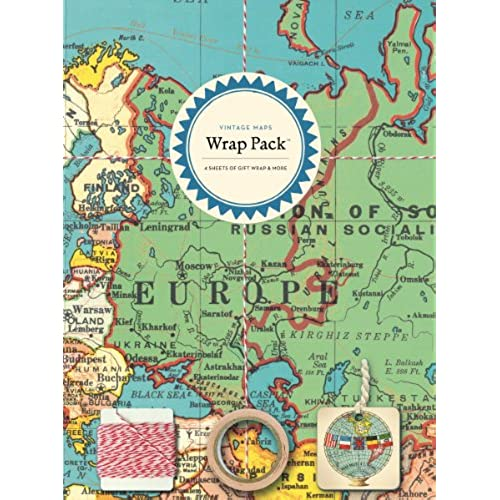 World map gifts amazon cavallini papers co inc wrap pack vintage maps gumiabroncs Gallery