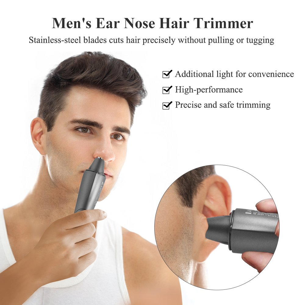 TOUCHBeauty Men\'s Nose Ear Trimmer Hair Personal Groomer with Light AS-0959