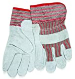 MCR Safety 1201S Shoulder Cow Leather Women's Gloves with Starched Safety Cuffs, Natural Pearl, Small, 1-Pair