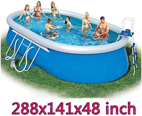 24 Ft Oversize Swimming Pool Summer Family Interaction Pool Party Inflatable Pool For Kid And Adult Home Kitchen