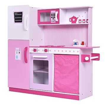 Cocina de madera para niños imitación juguete infantil juego de rol ...