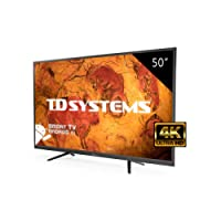 Televisore Led 50 Pollici Ultra HD 4K Smart TD Systems K50DLY8US. Risoluzione 3840 x 2160, 3x HDMI, VGA, 2x USB, Smart TV.