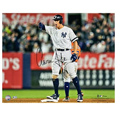 48eb8c0f7 Aaron Judge Signed Autograph 16x20 Thumbs Down Photograph Fanatics -  Certified Authentic
