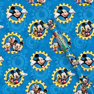 Amazon.com: Disney Mickey Mouse Clubhouse Gift Wrap-1 roll: Health ...