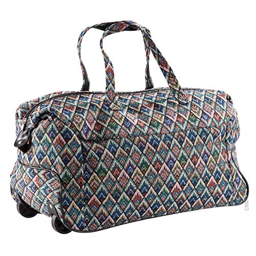 Diamond Tapestry Rolling Duffle