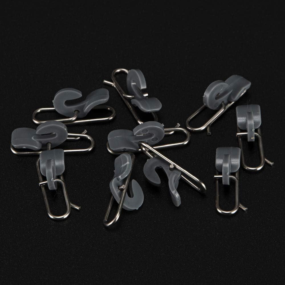 10 Stück Impact Bait Kreative Angelhook Release Clip System Blau /& Rot