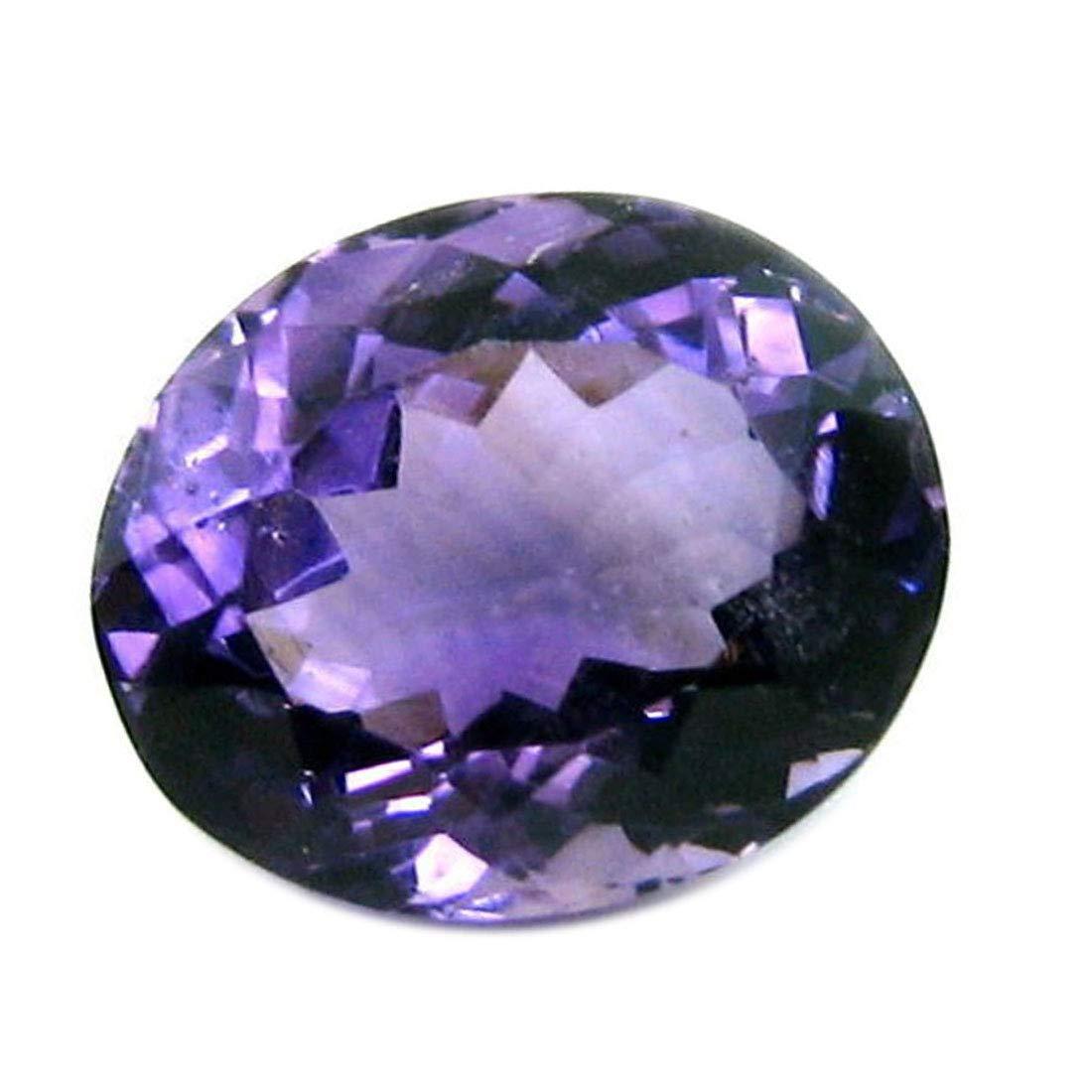 Gemsyogi 14X10 MM Genuine Amethyst Stone Purple Oval Faceted Loose Gemstone For Jewellery Making