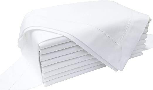 Wrinkle Resistant Cotton Cloth Napkins 20 x 20 inches Cocktail /& Events Oversized Washable Dinner Napkins with Hemmed Edges Dining Table D/écor for Wedding Banquet Restaurant Pack of 6 Home