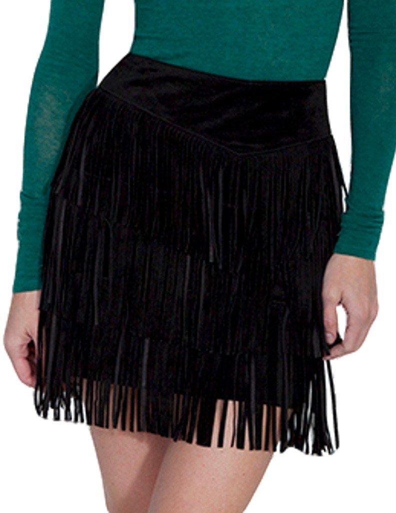 Scully Women's Zeena Fun Fringe Skirt Black Skirt XS