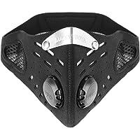 Máscara Antipolvo, MáScara de Cara del Filtro Antipolvo a Prueba de Polvo del Medio Ambiente Caliente a Prueba de Viento Durable para el Ciclo al Aire Libre con Velcro