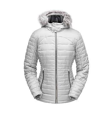 SPYDER Womens Edyn Insulated Waterproof Down Winter Jacket with Faux Fur Hood