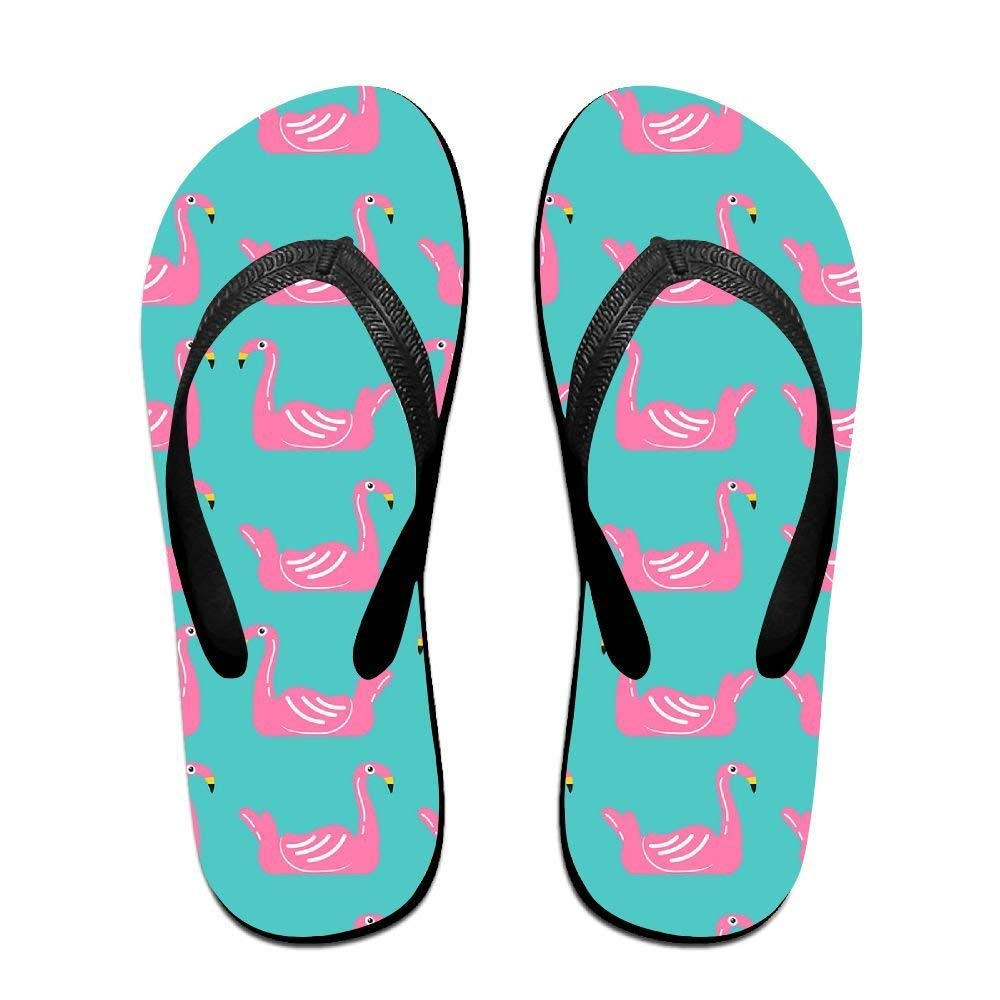 Summer Beach Sanls Flamingo Swim Ring Pool Comfortable Flip-Flop Multiple Sizes Unisex