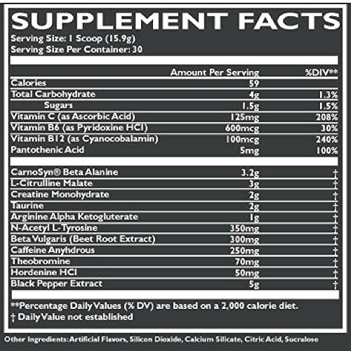 Pre Workout Energy Powder Supplement For Men & Women- Natural Formula, Free Of Fillers & Dyes - Boosts Your Endurance & Focus, Speeds Up Recovery - 15.9gr Serving - Made In USA (30, Clean Berry)