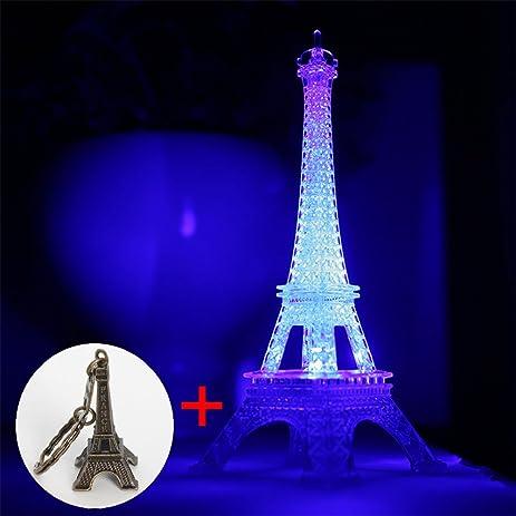 Amazon.com : Eiffel Tower Nightlight Desk Bedroom Decoration LED ...