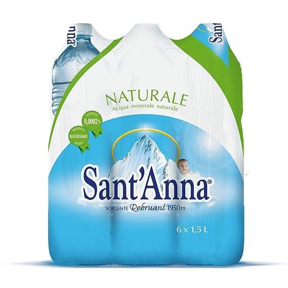 Santanna Acqua Minerale 15l Naturale Confezione Da 6 Amazon