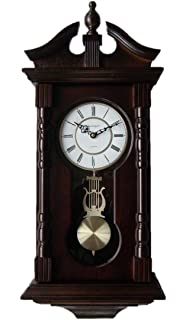 Amazoncom Bulova C4437 Ridgedale Clock Walnut Finish Home Kitchen