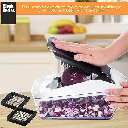 Amazon.com: Cortador de verduras Mandolina con recipiente de ...
