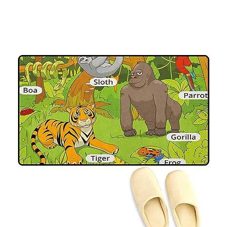 Amazon.com : zojihouse Educational Floor Mat for Kids Jungle ...