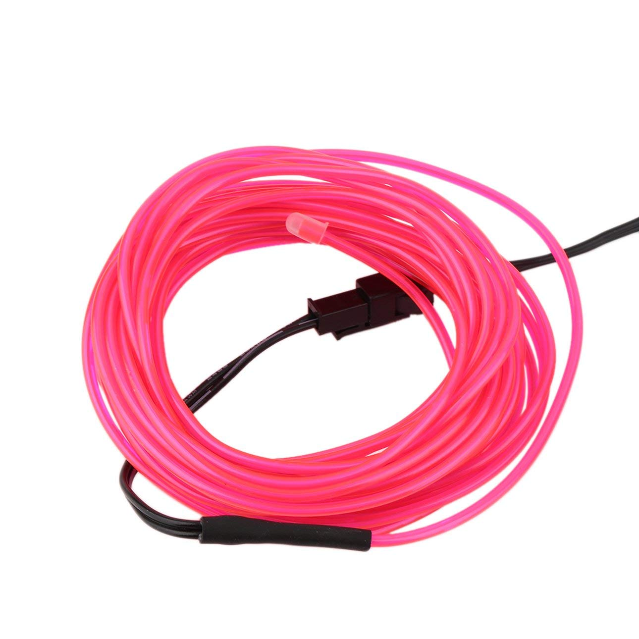 Liobaba 5M Colorful Flexible EL Wire Tube Rope Neon Light Glow Controller Party Decor