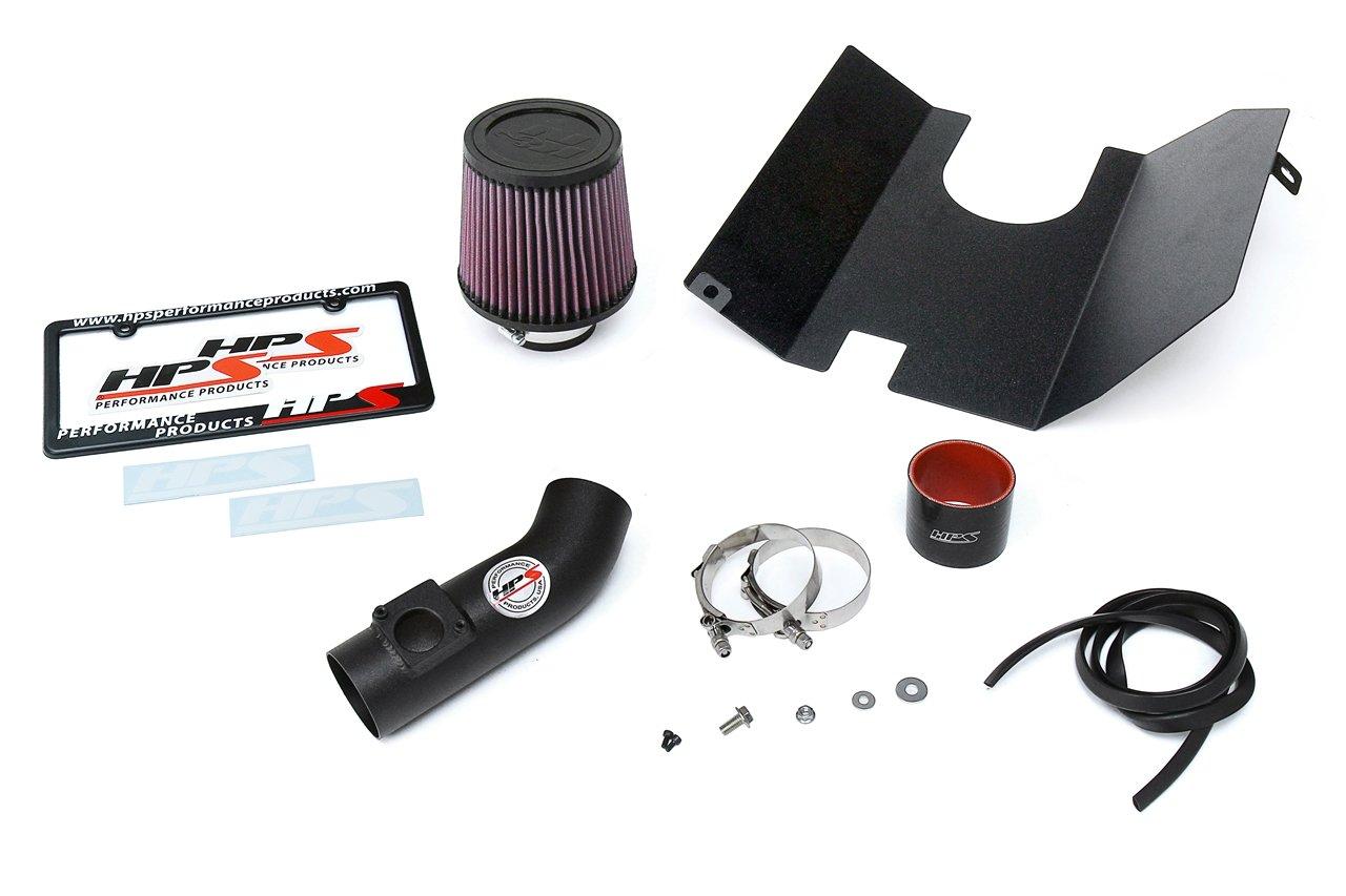 HPS Black Shortram Air Intake Kit Heat Shield for 04-07 Subaru STi 2.5L Turbo