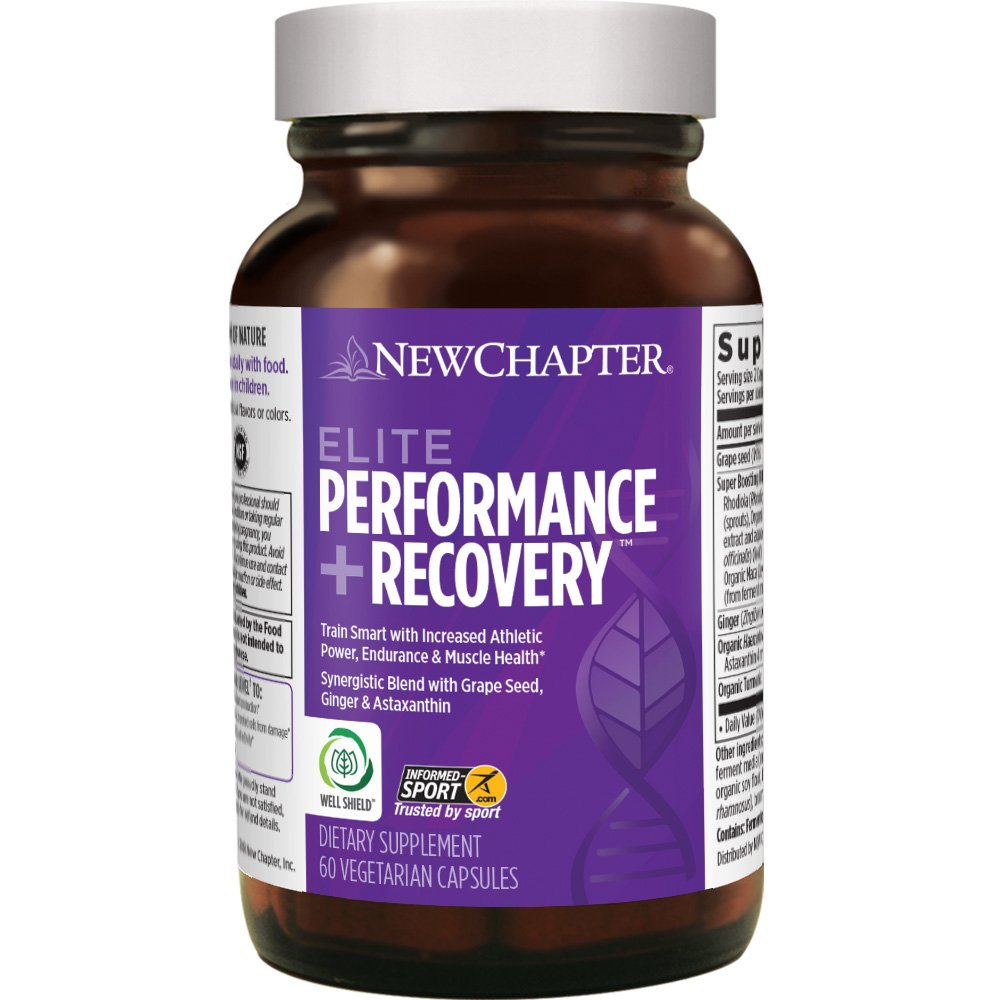 New Chapter Pre Workout, During Workout & Post Workout Supplement - Elite Performance + Recovery for Competitive Training - 60 Vegetarian Capsules
