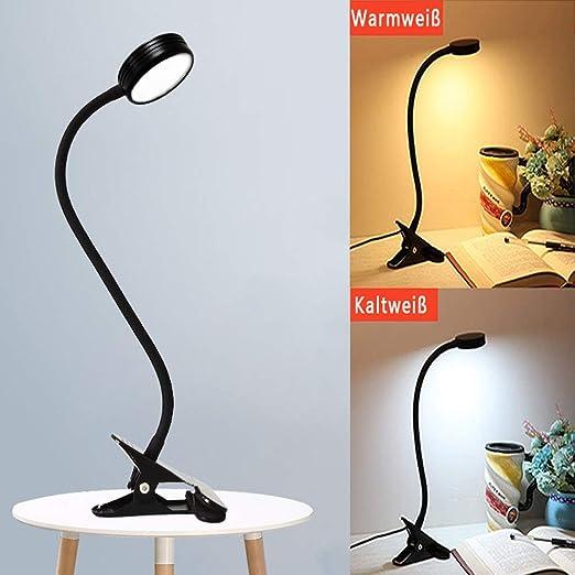 LED-Schreibtischlampe 7 W mit langem Schwanenhals schwarz Lampe Schreibtisch