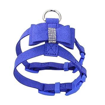 JOYIYUAN Collar de Perro Mascota Collar de arnés de Diamantes de ...