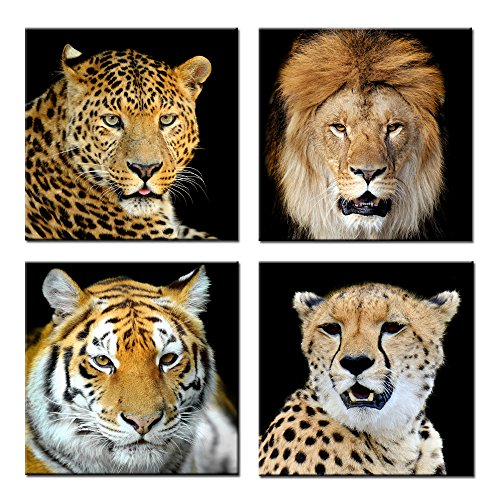 Kreative Arts Leopard Tiger Lion Cheetah Picture Print Wall Art