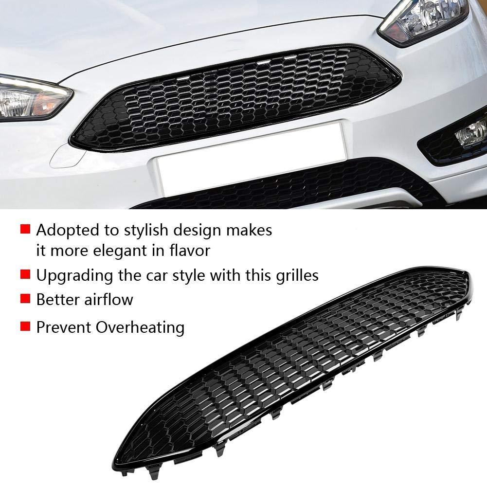 KIMISS Griglia a grill griglia a nido dape con griglia paraurti anteriore in ABS per lo stile ST 2015-2017 nero lucido