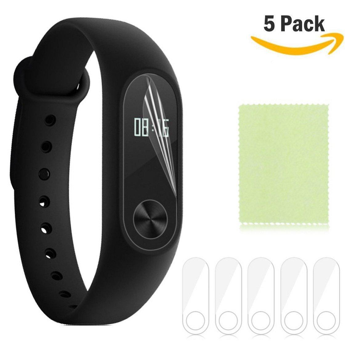 5 Pack Xiaomi Mi Band 2 Screen Protector Yafine Ultra Slim Hd Original Black Free Guard Pcs Clear Front Phone Film For Smart Wristband Bracelet