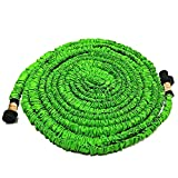 Garden Hose - All New Expandable Water Hose, 75ft Flexible Expanding Hose Pressure Water Hose with 3/4' Brass Fittings & Triple Layer Latex Core & Latest Improved Extra Strength Fabric