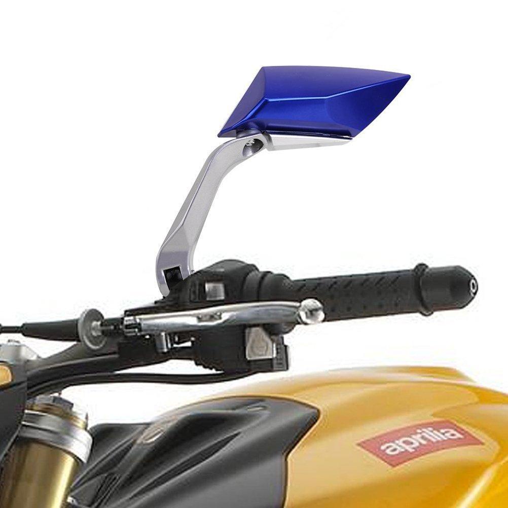 Blu /Una coppia rosenice Moto rotazione di 360/gradi moto specchietto retrovisore laterale Specchi/