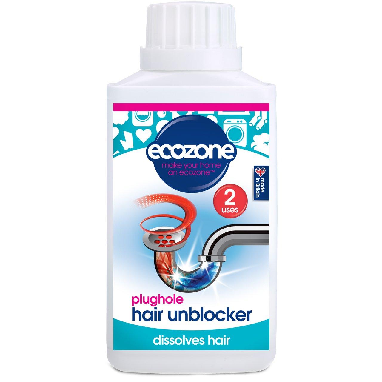 Ecozone Plughole Hair Unblocker, 2 Uses EZ6