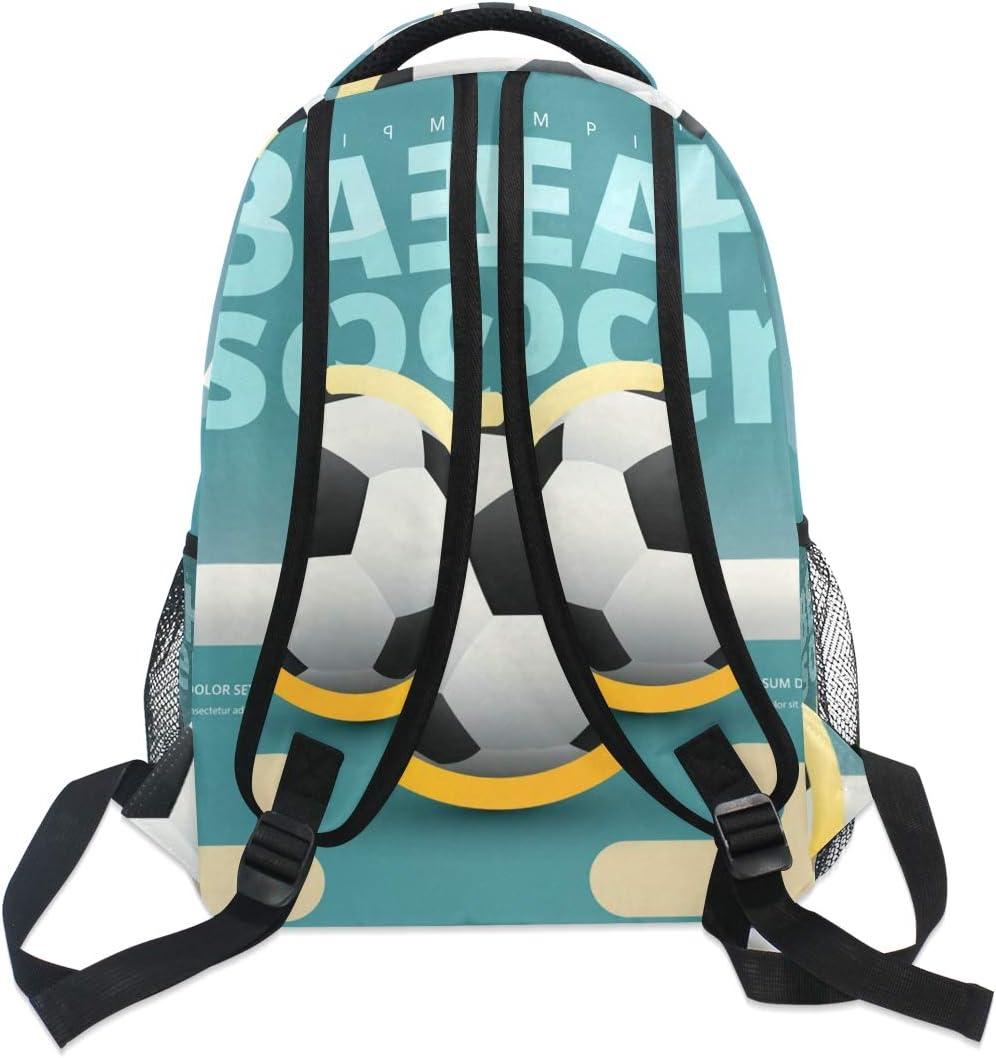 Backpack Fashion Laptop Daypack Beach Soccer Football Travel Backpack for Women Men Girl Boy Schoolbag College School Bag Canvas