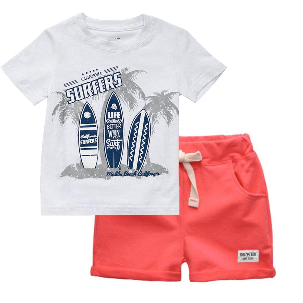 Balai Neonato Bimbo Vestiti Set Cartone Animato Manica Corta Camicie T-Shirt + Pantaloncini Abbigliamento Set Estate 2Pcs 4U-AV0071