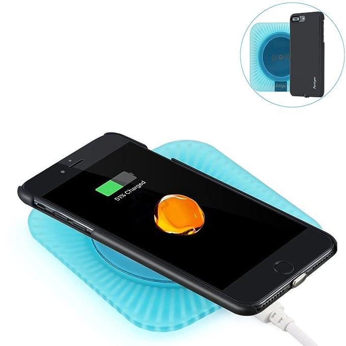 2 en 1 QI Cargador Inalámbrico Kit para iPhone 7 Plus/7, Qi base ...