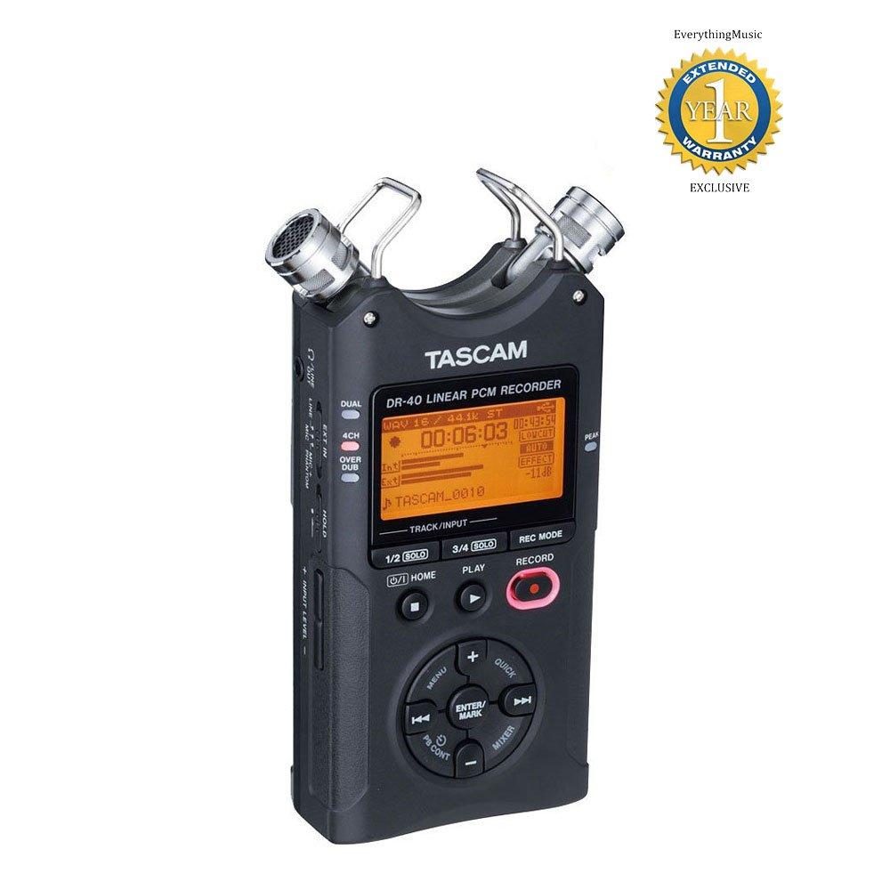 TASCAM 4-Track Portable Digital Recorder DR-40