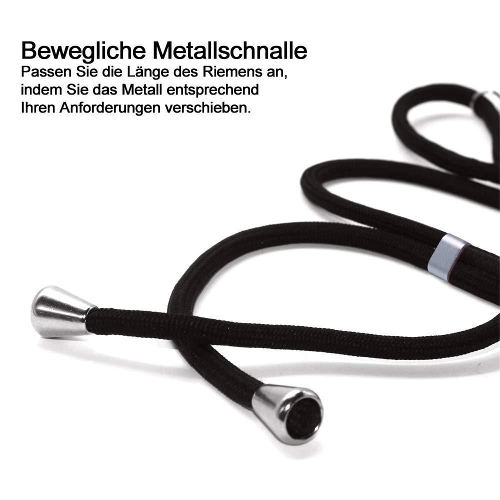Smartphone Necklace H/ülle mit Band Schnur mit Case zum umh/ängen in Silber,Pouch Bag Mode-Accessoire Handytasche 【+Handy-Schutzfolie】 Handykette kompatibel mit iPhone 6//iPhone 6s