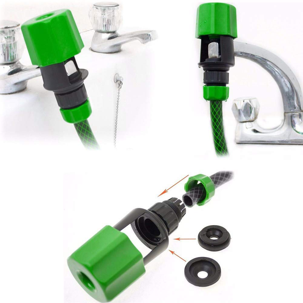Rigel7 Universal Water Tap to Garden Hose Pipe Connector Mixer Kitchen Tap Faucet Adapter Home Greenhouse