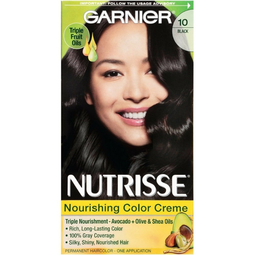 Garnier Nutrisse Nourishing Color Creme Black [10] 1 ea (Pack of 5)
