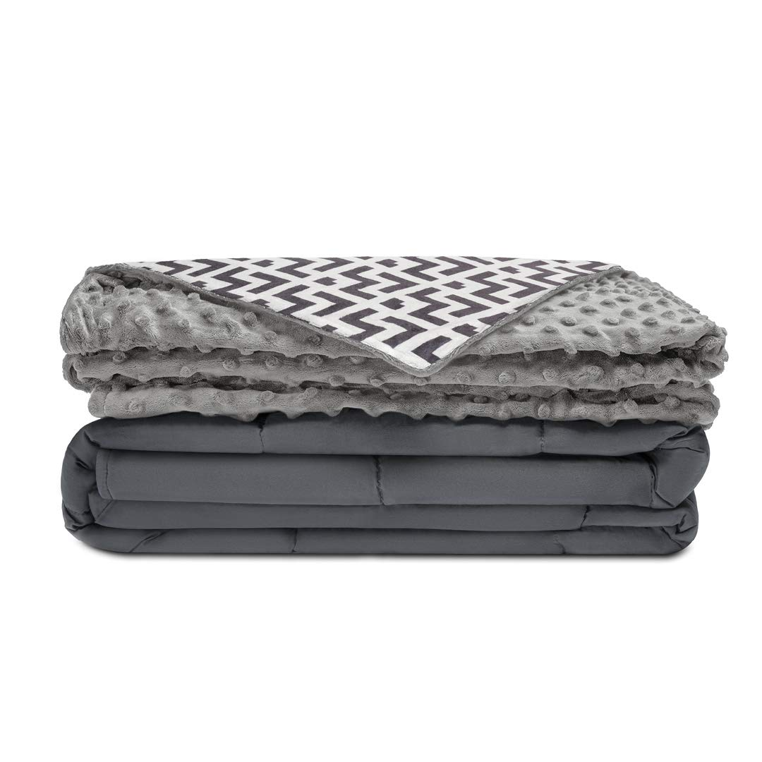 """Quility Premium Kids Weighted Blanket & Removable Cover 
