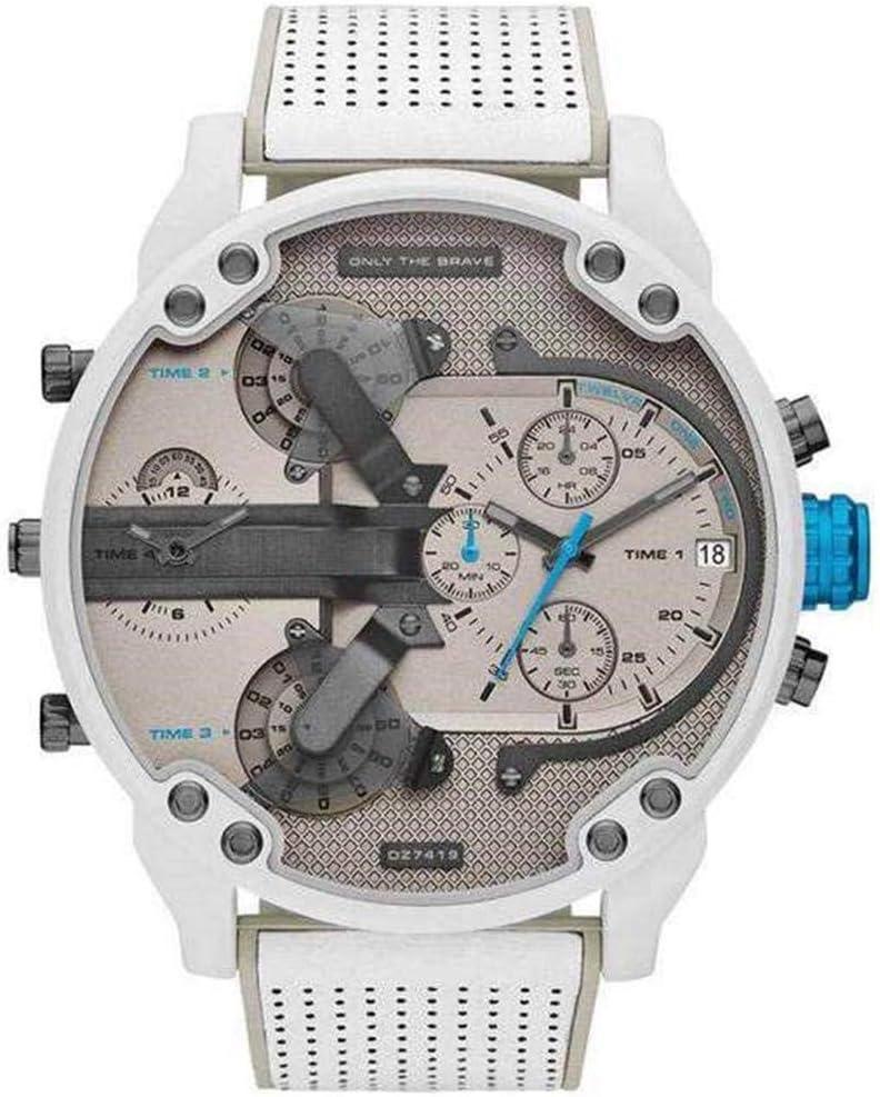 Kapokilly Relojes, Relojes De Cuarzo Analógicos Casuales Y De Negocios De Cuero Acero Inoxidable De Moda para Hombres, Relojes DZ De Esfera Grande Todos Los Modelos