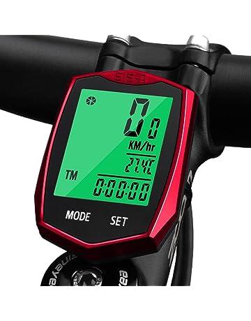 e111e02ed KOROSTRO Ciclocomputador, inalámbrico LCD bicicleta velocímetro Sport  bicicleta ordenador cuentakilómetros inalámbrico impermeable bicicleta  Backlight para